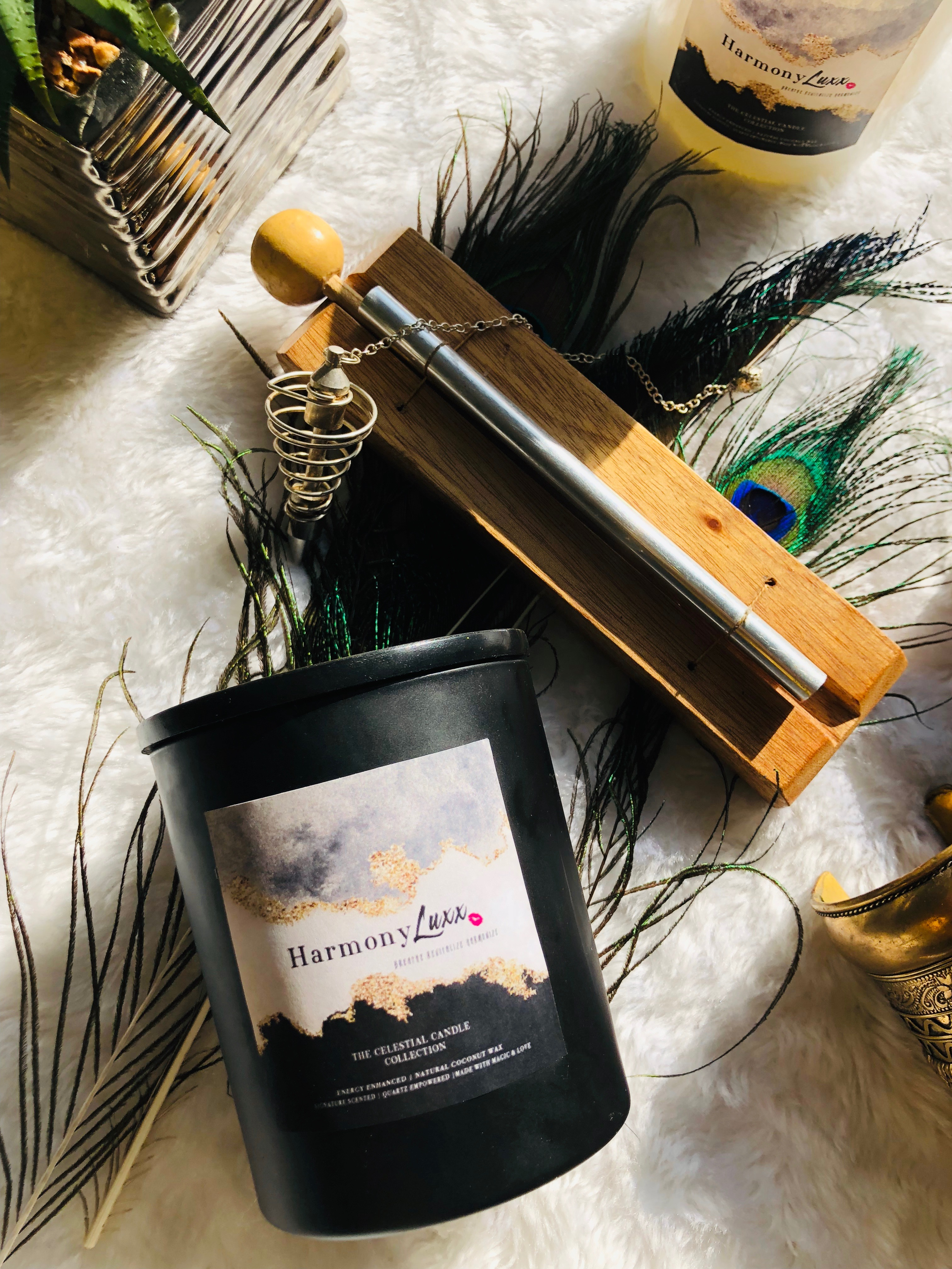 Goddess Crystal Candles ~ 10oz  Lux Natural Candles by Goddess Harmony