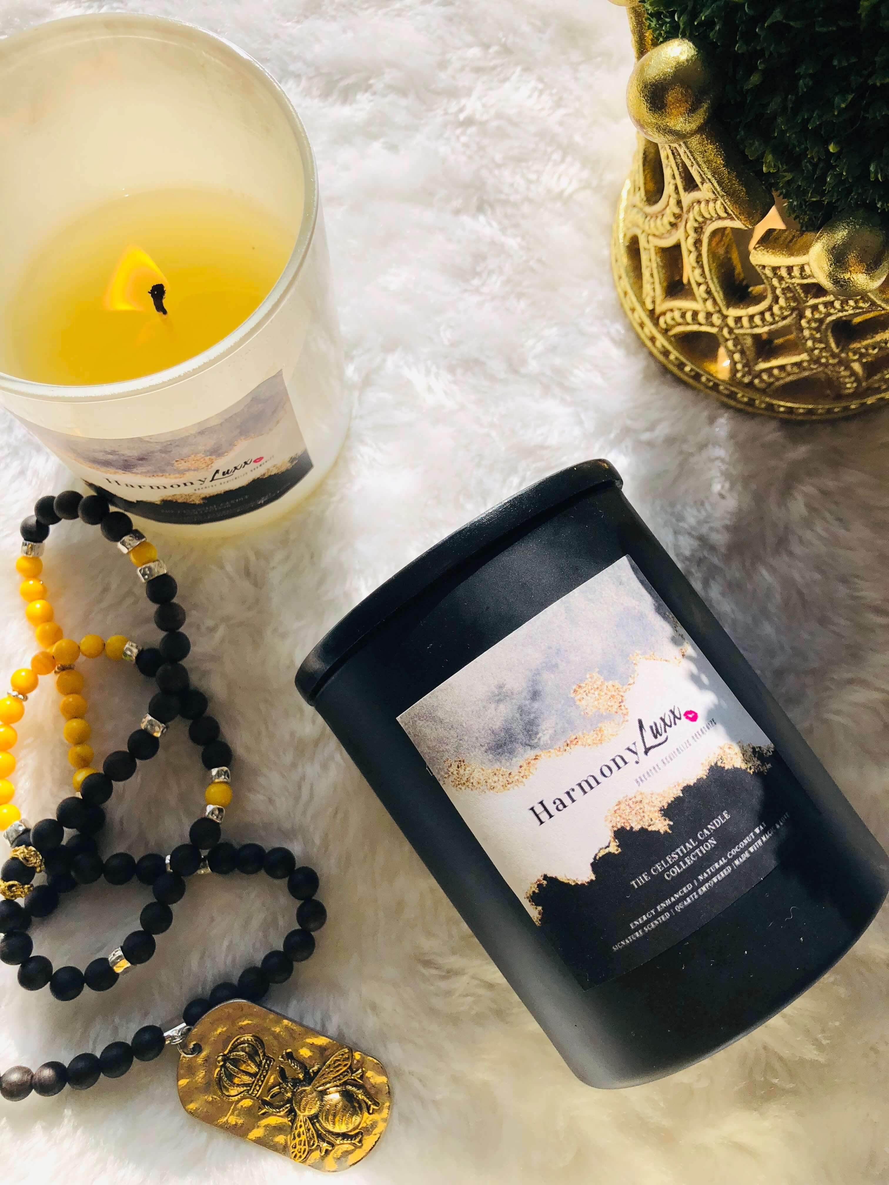 Goddess Crystal Candles ~ 14oz  Lux Natural Candles by Goddess Harmony