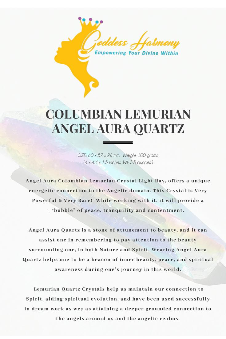 Colombian Lemurian Rainbow Aura Angel Quartz