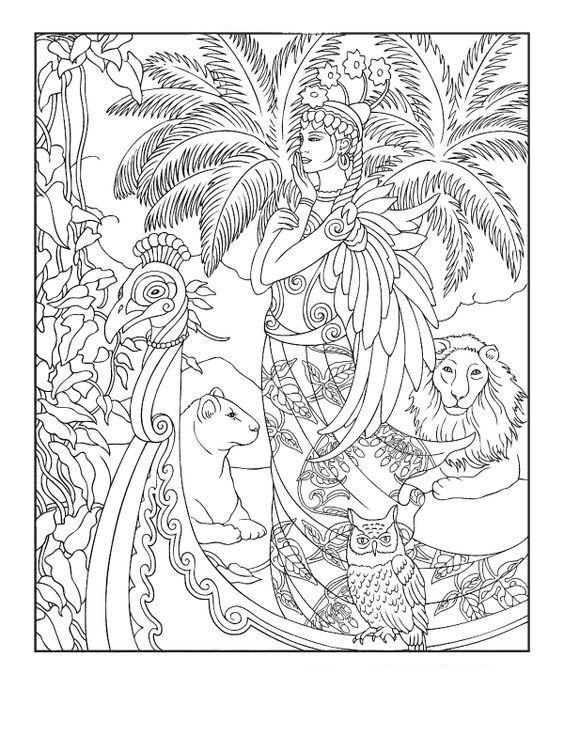 bastet coloring sheet
